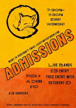 ADMISSIONS - *NEW* Emerging Artist Night