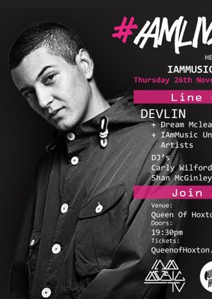 #IAmLive presents DEVLIN + support