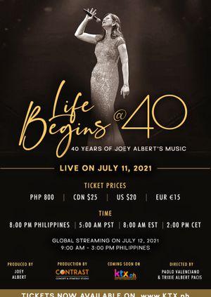 Life Begins @ 40: 40 years of Joey Albert's Music World Premiere
