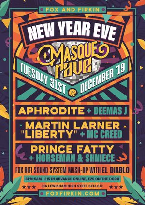New Years Eve Masque Rave in Lewisham