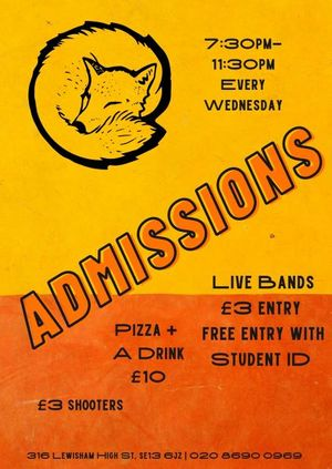 ADMISSIONS - Barry // Slug Puppie // Deuxes and More!
