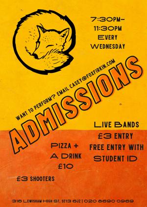 ADMISSIONS - Jaz Beeson // Bert Brett // Jack Howard and More!